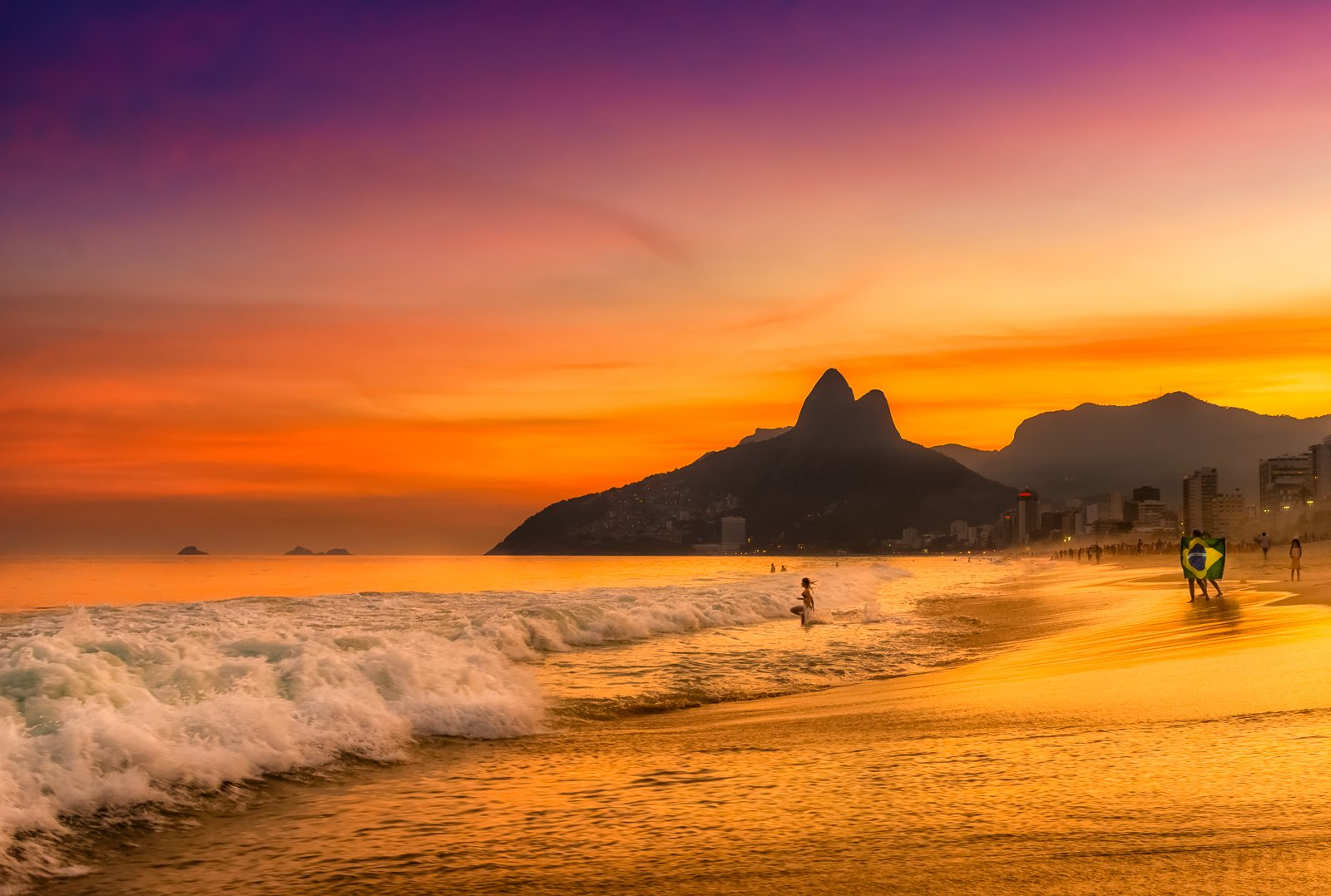 Golden Evening in Rio